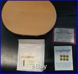 Set of 5 Longaberger Collectors Club Harmony Baskets with Lids #'s 1,2,3,4,5