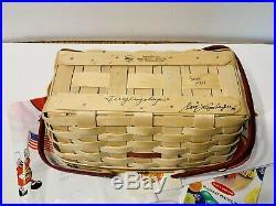 Signed Longaberger 2007 JELLY BELLY Basket Set Tie-On, Liner + Extras NEW