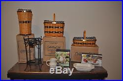 True Set of 12 Longaberger J. W. Miniature Collector's Club baskets