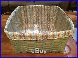 Very Rare Longaberger Square Laundry Basket Set- Brand New